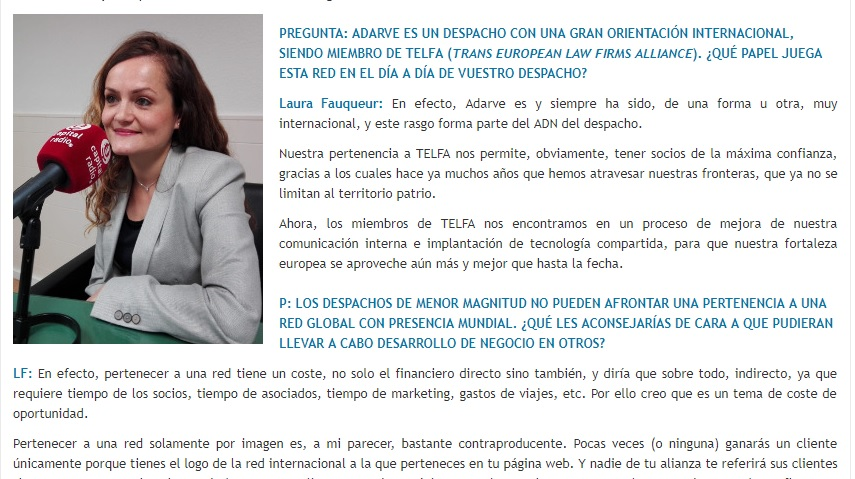 David Muro habla con… Laura Fauqueur, Responsable de marketing y desarrollo de negocio de Adarve