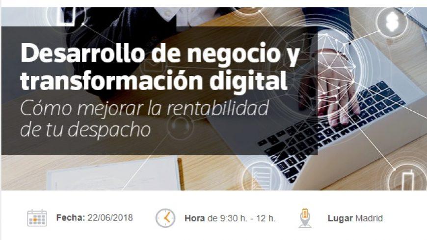 Desayuno de trabajo: Desarrollo de Negocio y Transformación Digital. Cómo mejorar la rentabilidad de tu despacho
