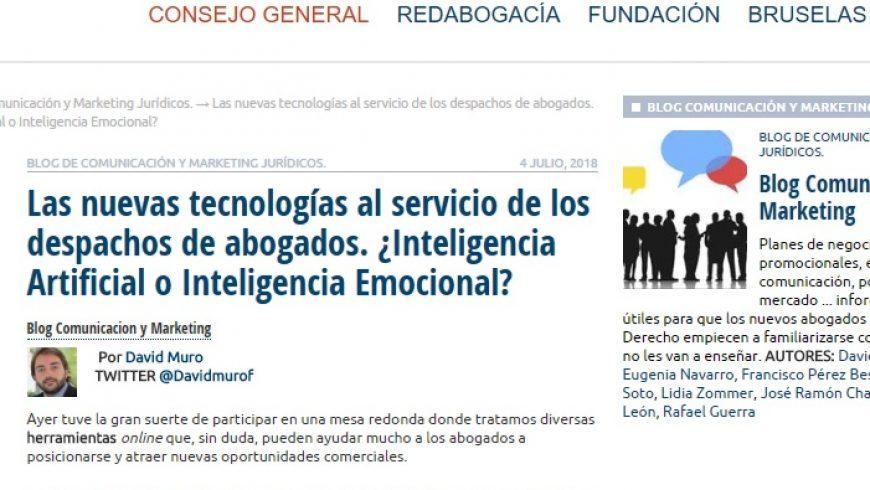 Las nuevas tecnologías al servicio de los despachos de abogados. ¿Inteligencia Artificial o Inteligencia Emocional?
