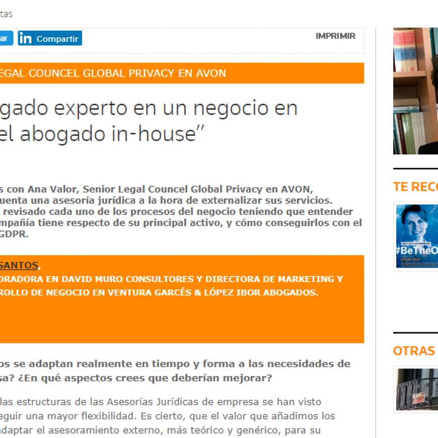 """DMC ENTREVISTAS IN-HOUSE: """"El único abogado experto en un negocio en particular es el abogado in-house"""""""