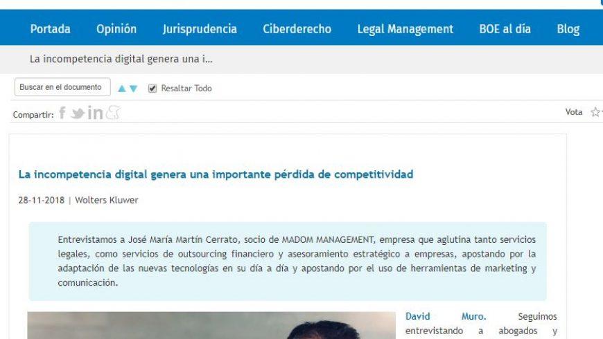 David Muro habla con… José M. Martín Cerrato, socio de Madom Management