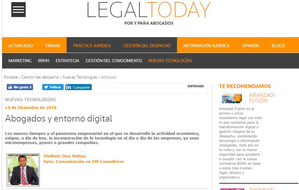 Abogados y entorno digital