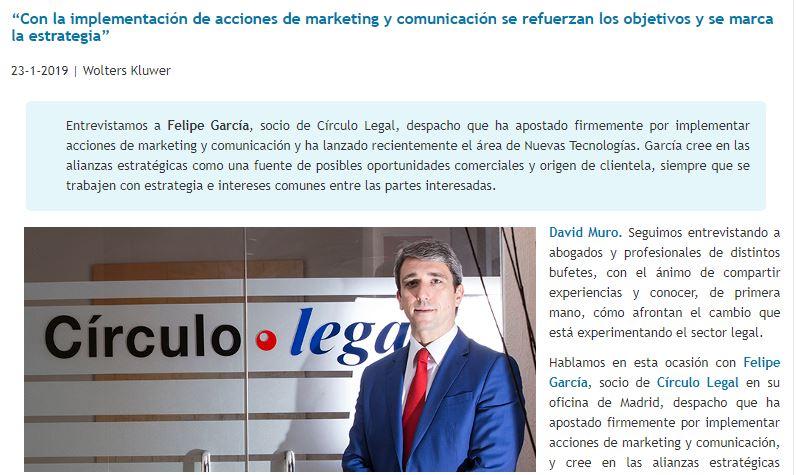 David Muro habla con…Felipe García, socio de Círculo Legal.
