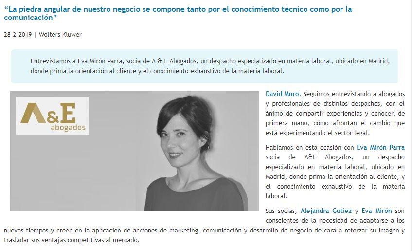entrevista_eva_miron_a_&_e_abogados_david_muro_consultores