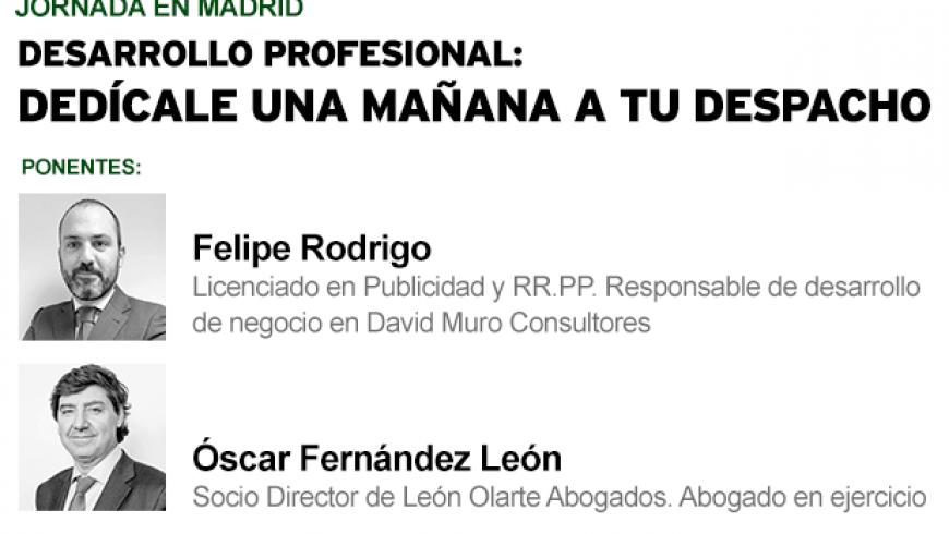 Felipe Rodrigo participará en una jornada sobre marketing para despachos de abogados