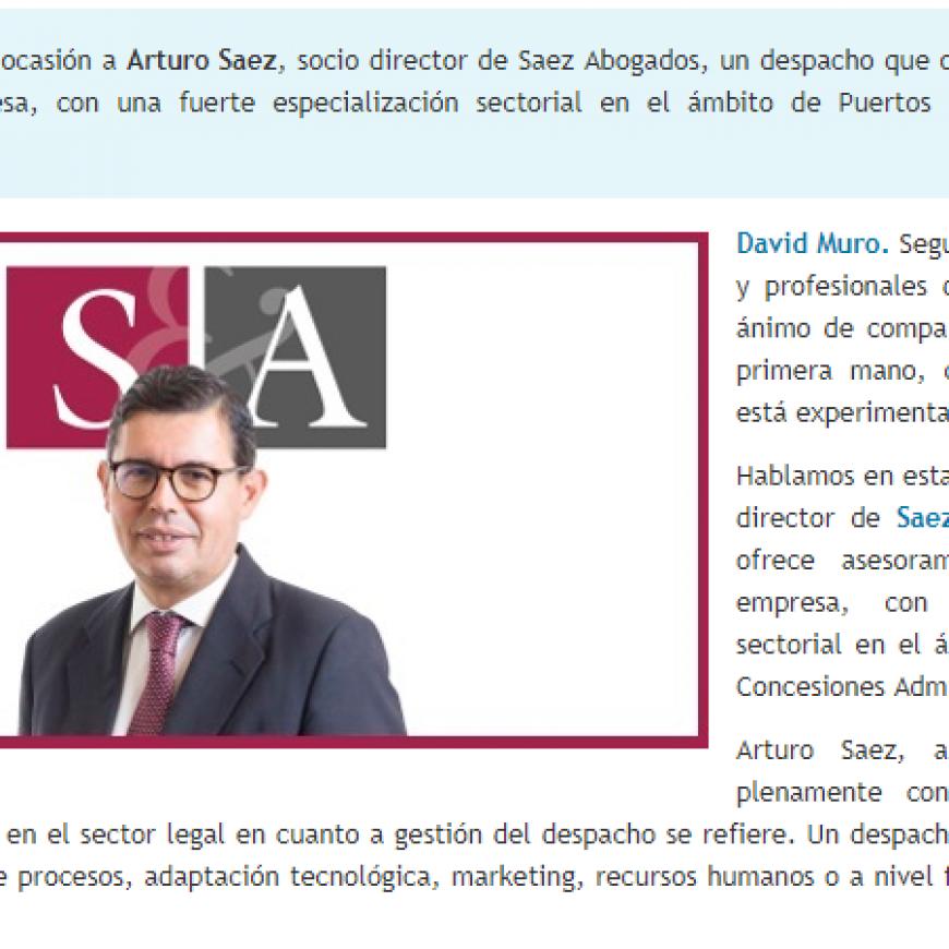 David Muro habla con… Arturo Sáez, Socio Director de Sáez Abogados