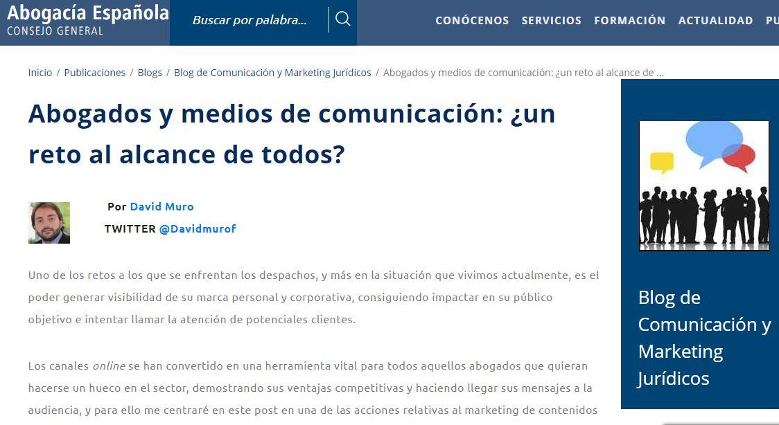 Abogados y medios de comunicación: ¿Un reto al alcance de todos?